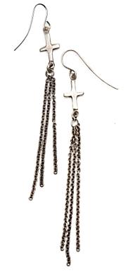 Elizabeth And James Cross Dangle Earrings: Silver