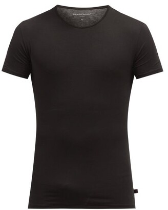 Derek Rose Jack Pima Cotton Crew Neck T Shirt - Mens - Black