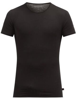 Derek Rose Jack Pima Cotton Crew Neck T Shirt - Mens - Black
