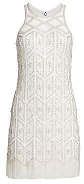 Joanna Mastroianni Women's Embroidered Sleeveless Cocktail Sheath Dress