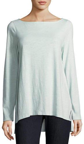 Eileen Fisher Slubby Organic Cotton Top