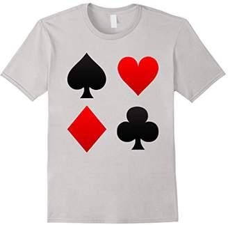 Poker Playing Card Suits T Shirt - Funny Gambling Casino Tee
