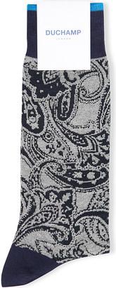 Duchamp Paisley cotton-blend socks $19 thestylecure.com