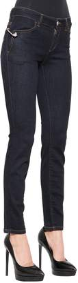 Versus Skinny Safety Pin Stretch Denim Jeans