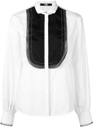 Karl Lagerfeld Organza Plastron poplin shirt