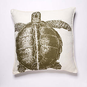 Thomas Paul Turtle Lichen Linen Pillow