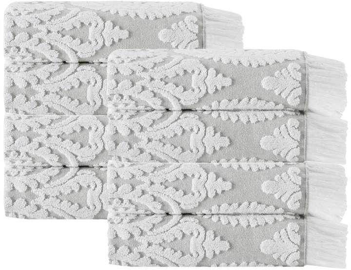 Turko Textile LLC dba Enchante Home Laina Turkish Cotton 8-piece Hand Towel Set