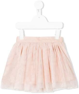 Stella McCartney embroidered pleated skirt