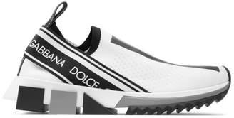 Dolce & Gabbana White Logo Sorrento Runner Sneakers