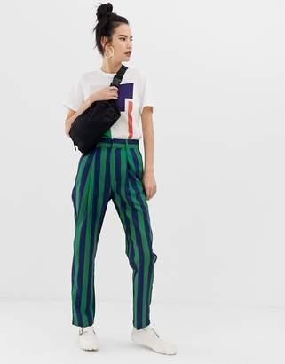 Daisy Street peg trousers in stripe