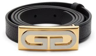 Gucci Gg Logo Leather Belt - Mens - Black