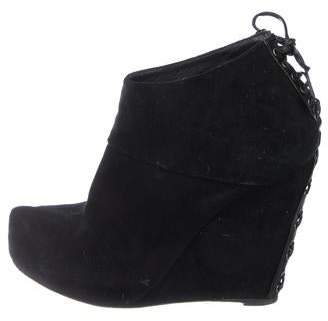 Jenni Kayne Suede Wedge Ankle Boots