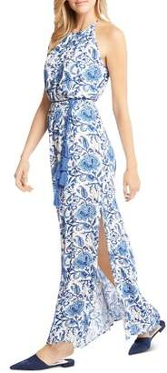 Karen Kane Floral-Print Side-Slit Maxi Dress