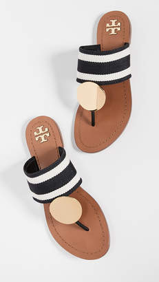 1778a9706aa3d Tory Burch Black Open Toe Women s Sandals - ShopStyle