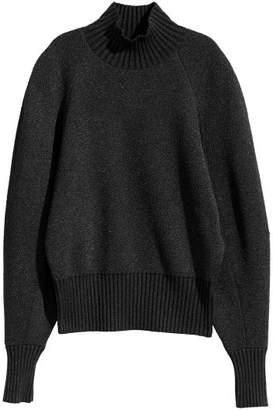 H&M Knit Turtleneck Sweater - Black