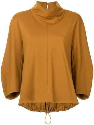 Tibi high neck blouse