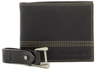 Timberland Quad Bifold Wallet & Key Fob 2-Piece Set $58 thestylecure.com