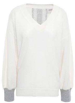 Charli Calanthe Open Knit-paneled Cashmere Sweater