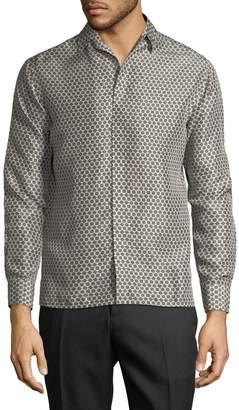 Lanvin Men's Honeycomb Print Sportshirt