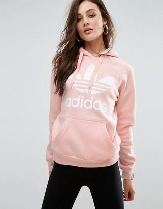 Adidas adidas Originals Pink Trefoil Boyfriend Hoodie $65 thestylecure.com