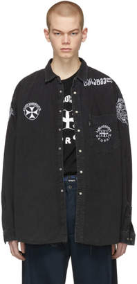 Vetements Black Levis Edition Denim Western Shirt