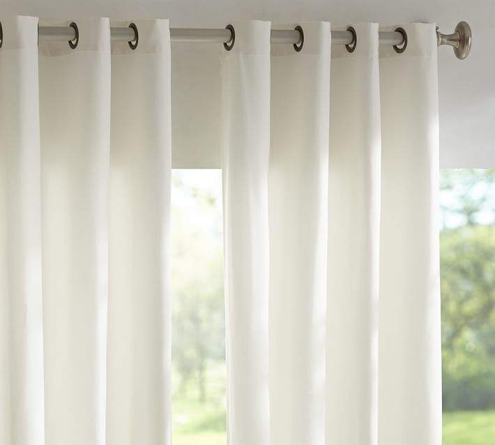 Sunbrella®; Solid Indoor/Outdoor Grommet Drape - Natural