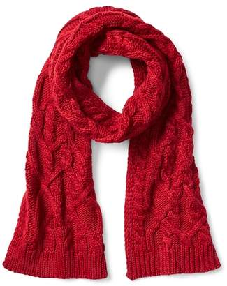 Gap Cable-knit colorblock scarf