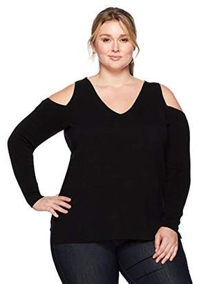 Rachel Roy Women's Plus Size Cold Shoulder V-Neck