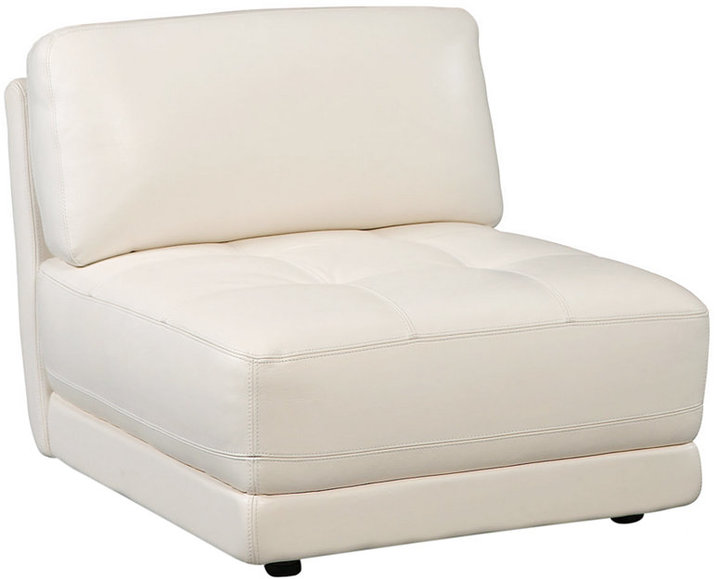 Vice Versa Leather Armless Chair, 33