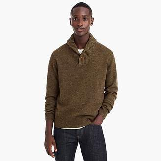 J.Crew Rugged merino wool shawl-collar pullover sweater