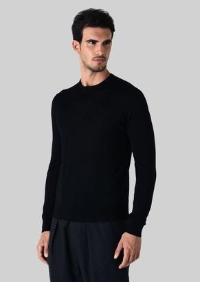 Giorgio Armani Pure Wool Crew Neck Pullover