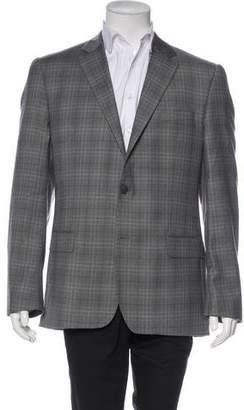 Valentino Wool Plaid Blazer