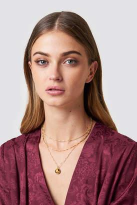 Tranloev Layered Stone Necklace Gold/Brown