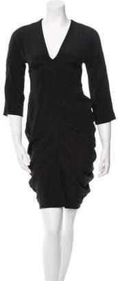 Zero Maria Cornejo V-Neck Mini Dress