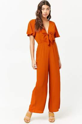 Forever 21 Crepe Tie-Front Jumpsuit