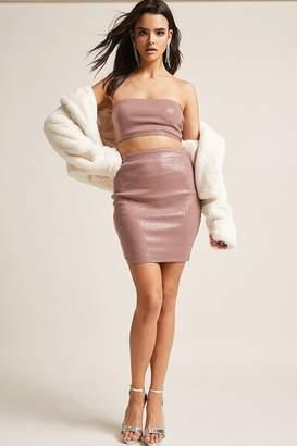 Forever 21 Metallic Sequin Mini Skirt