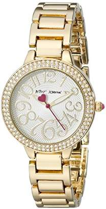 Betsey Johnson Women's BJ00235-01 Analog Display Quartz Gold Watch