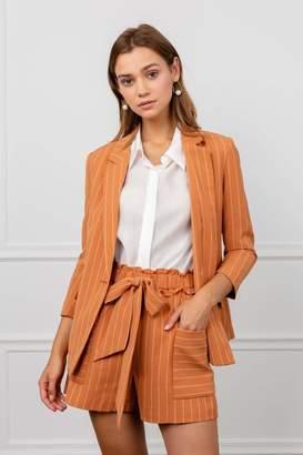 J.ING Sophie Orange Striped Blazer