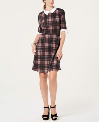 043731634a5d Monteau Petite Collared Plaid Dress