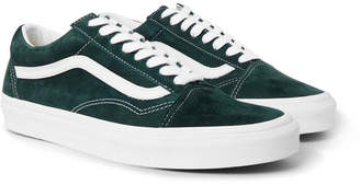 Vans Old Skool Leather-Trimmed Suede Sneakers - Men - Emerald