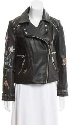 Zadig & Voltaire Kawai Tattoo Deluxe Leather Jacket