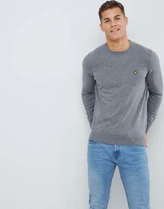 Lyle & Scott sweater in cotton in gray