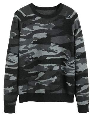 Mango man MANGO MAN Camo-print jacquard sweater