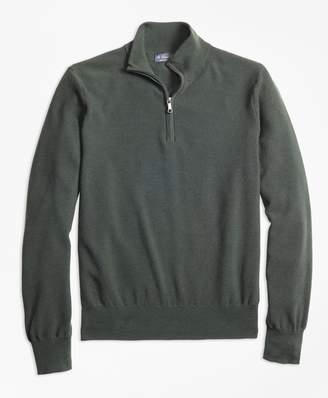 Brooks Brothers BrooksTech Merino Wool Textured Half-Zip