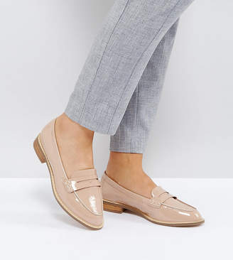 Asos Design MUNCH Wide Fit Loafer Flat Shoes