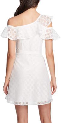 GUESS Diamond-Lace One-Shoulder Dress