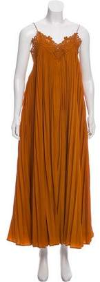 Self-Portrait Plisse Maxi Dress w/ Tags