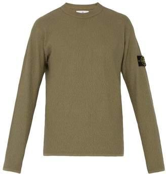 Stone Island Cotton Terry Sweatshirt - Mens - Green