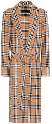 Burberry Checked wool coat