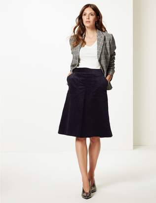 Marks and Spencer Corduroy A-Line Midi Skirt